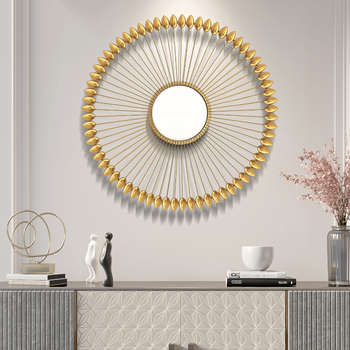 American Wrought Iron 3D Decorative Wall Mural Ornament Mirror  2