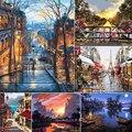 Краска по номерам пейзажи Сделай Сам масляная Раскраска по номерам уличный пейзаж холст краски Художественные картины Домашний декор
