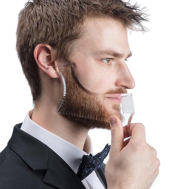 Venta caliente 1 piezas simetría barba de corte Shaper estilo de plantilla peine Barbero herramienta NShopping
