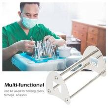 Подставка из нержавеющей стали держатель стойка органайзер для ортодонтических плоскогубцев для ножниц щипцов стоматологический лабораторный инструмент