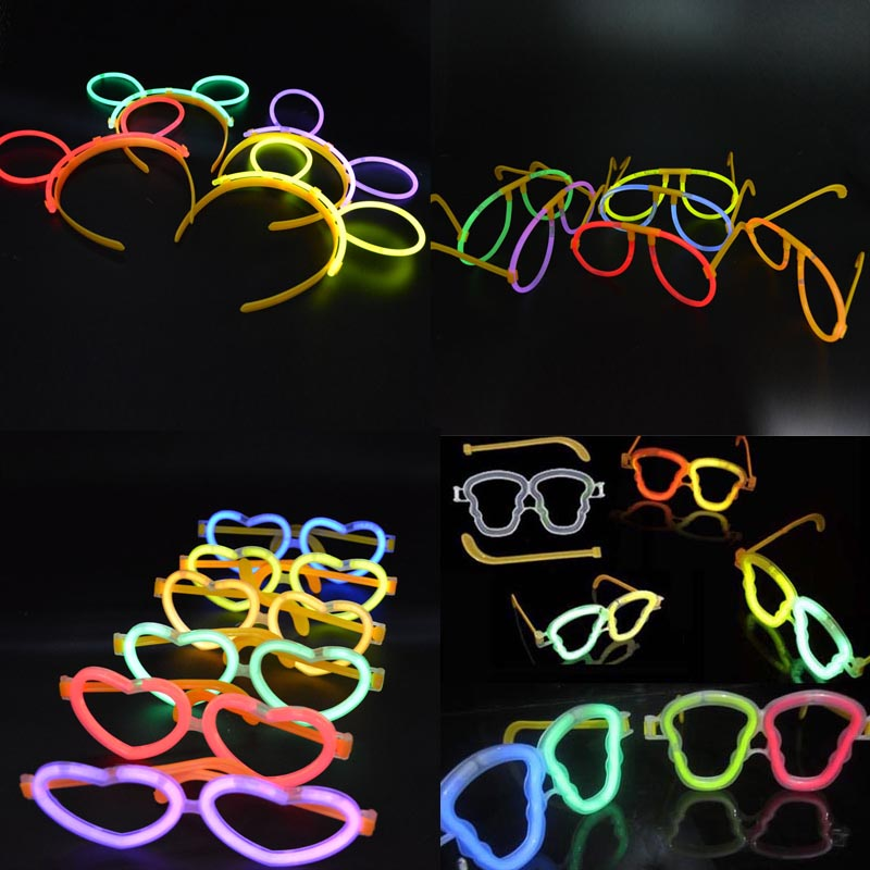 Luminous Neon Sticks Eyeglasses Headband Glowing Led Glasses Wedding Birthday Party Gift Favors Carnival  Led Party Eye Mask