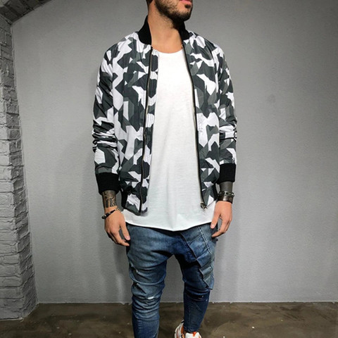 2019 New style Men Camouflage sport jacket Gyms Fitness Bodybuilding zipper coat Autumn casual fashion joker tide brand clothing Pakistan