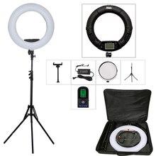 96W Bi Color LEDแหวนไฟสตูดิโอถ่ายภาพแหวนชุดYidoblo FE 480II RC LCDแสงการถ่ายภาพ3200K 5500Kสีดำ