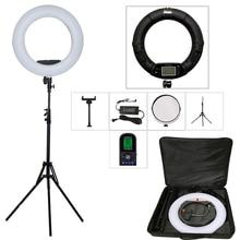 96W Bi color LED Ring Lights Lamp Photo Studio Ring Light Kit Yidoblo FE 480II RC LCD Photographic Lighting 3200K 5500K Black