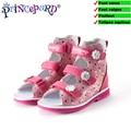 Princepard розовая ортопедическая обувь для девочек из натуральной кожи.жёсткий задник и супинаторы ортопедическая обувь для маленьких детей о...