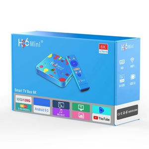 Image 1 - 1Set 4GB 32/128GB H96 Mini for Android 9.0 Smart TV Box H6 Quad Core 6K Wifi Multi Language HD Player Set Top Box