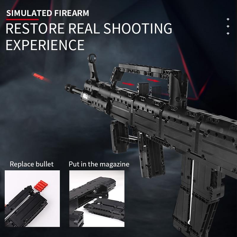 MOULD KING 14005 Blocks Gun The QBZ 95 Automatic Rifle Gun Model
