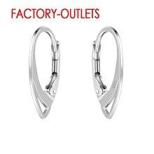 Diy moda jóias acessórios 925 prata esterlina brinco descobertas de alta qualidade 10 pares por lote orelha gancho unidade 20pcs atacado