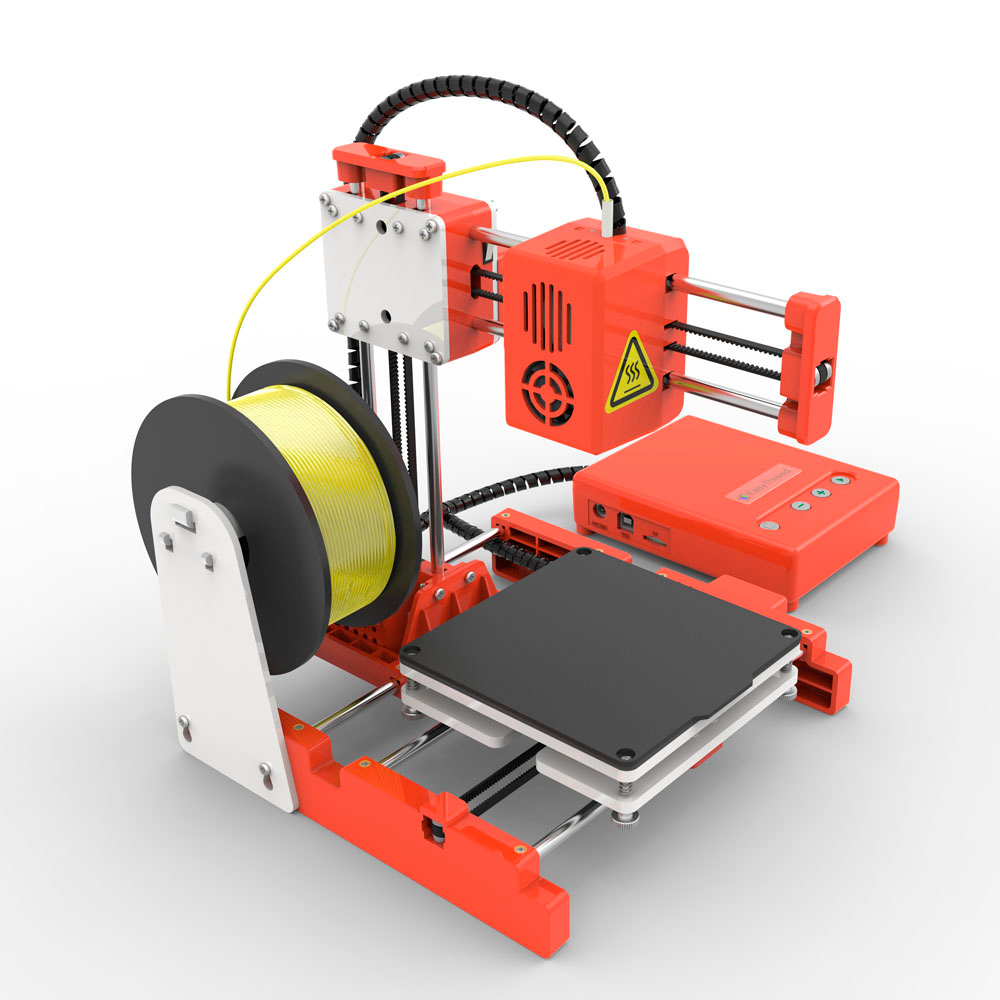 Easythreed X1 Mini 3D Printer for Household Education & Students 100*100*100mm Printing Size Support One Key Printing