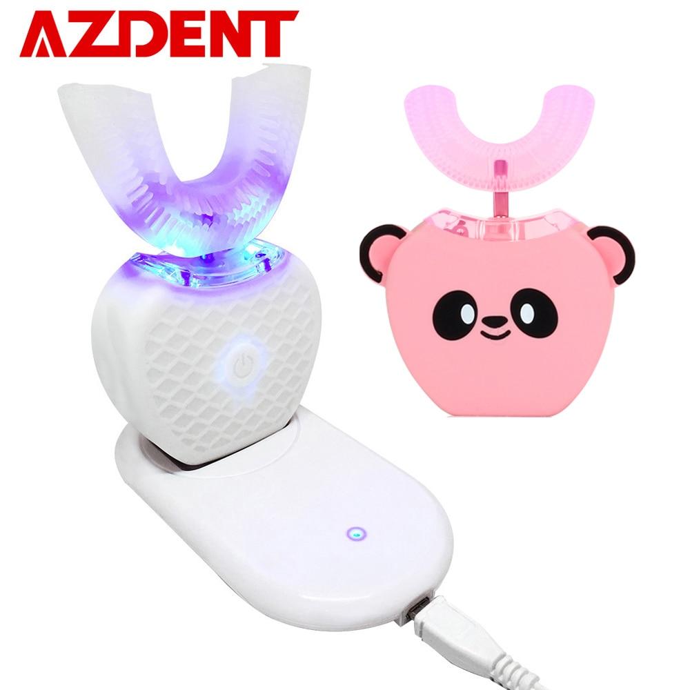 Akıllı U 360 ° otomatik Sonic elektrikli diş fırçası çocuklar yetişkinler için şarj edilebilir USB çocuk Ultra sonic ağızlık diş fırçası sıcak