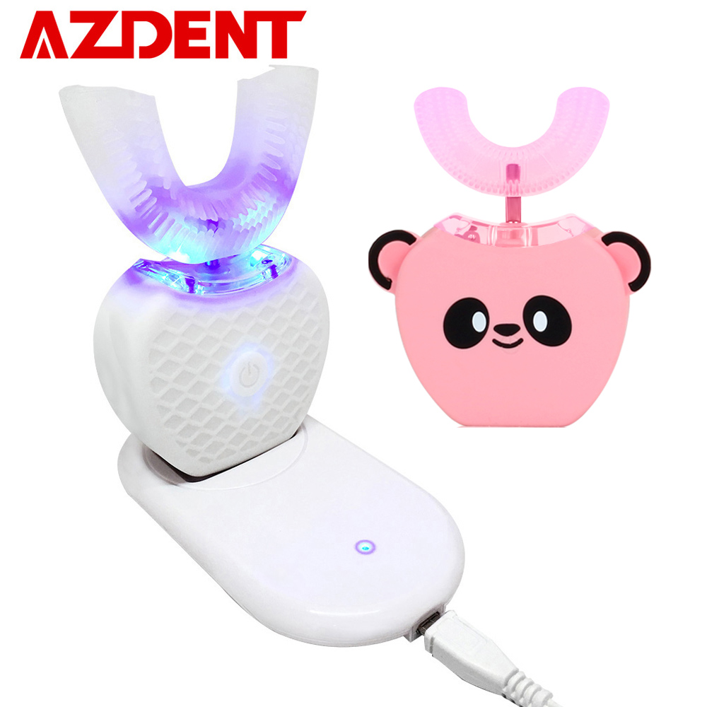 Smart U 360° Automatic Sonic Electric Toothbrush for Kids Adults Rechargeable USB Children Ultrasonic Mouthpiece Tooth Brush Hot