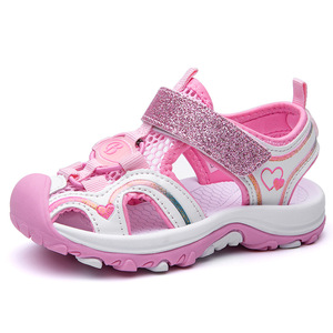 SKHEK Girls Summer Sandals 2020 Fashion Big KIDS Princess Shoe Children Soft-Sole Korean-style Little Girl CHILDREN'S Shoes