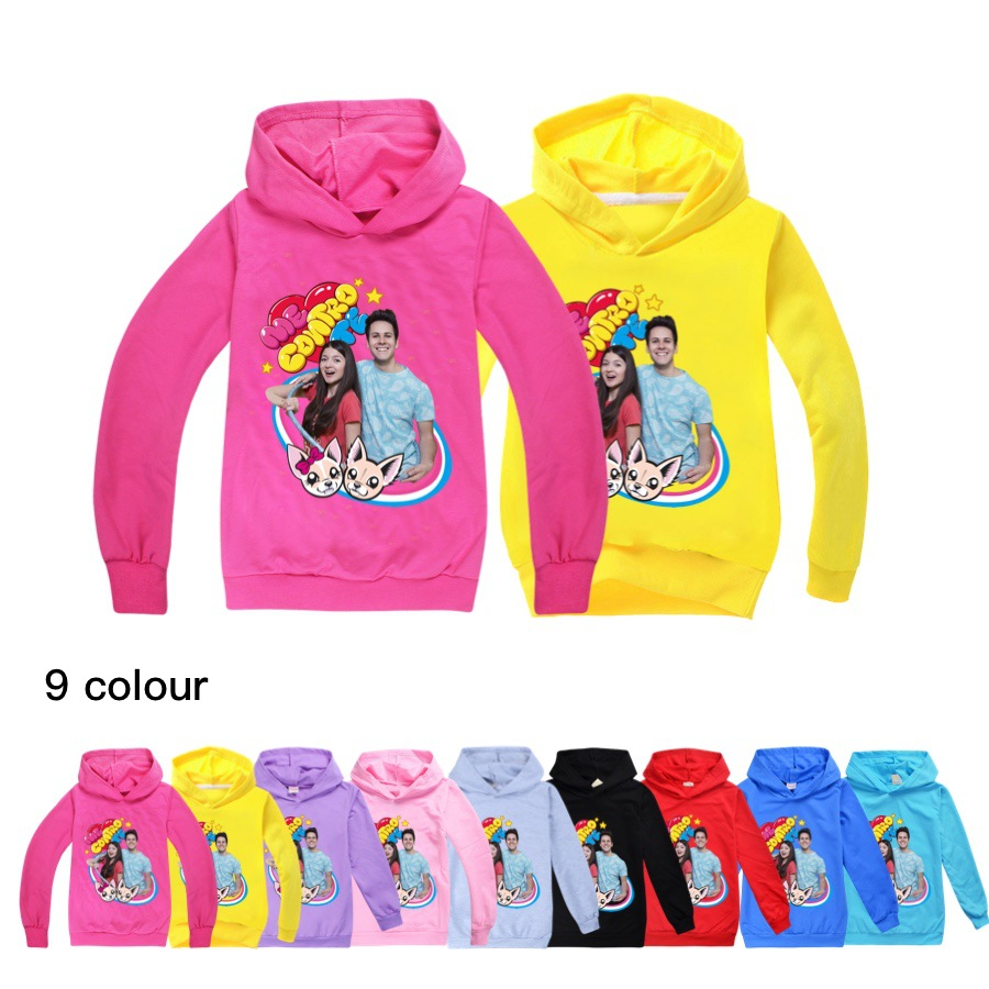 Kids Hoodies Fashion Boys Cotton Me Contro Te Baby Girl Thin Sweatshirt Cute Long Sleeves Children 2020 Autumn Boys Sweatshirts