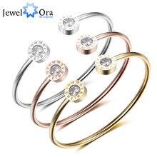 Adjustable Open Stainless Steel Bracelet Bangles 3 Color Cuf