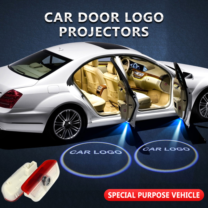 USA SHIPPING-2PCS Maserati Logo WIRELESS LED CAR DOOR LOGO PROJECTORS LIGHTS