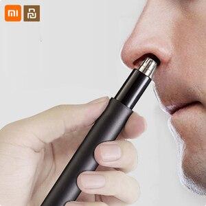 Image 1 - מקורי Xiaomi Huanxing האף שיער גוזם גברים מיני האף חשמלי שיער קליפר מתוקים אוזן האף שיער גוזם אוזן מנקה