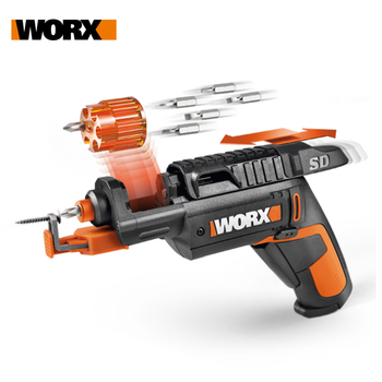 Worx 4V SD SLIDE DRIVER WX255.4 Mini Electrical Screwdriver Set Cordless Electric Screwdrivers USB Rechargeable Handheld Drill