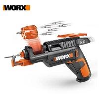 Sterownik suwakowy Worx 4V SD WX255.4 zestaw wkrętaków elektrycznych Mini akumulatorowy wkrętaki elektryczne USB akumulator ręczny