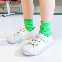 2020 Spring and summer thin solid color curled girls child kids pile socks