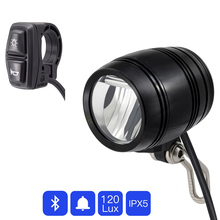 Light-Headlight Ebike Wuxing-Switch Bluetooth-Connect Electric-Bicycle-Lamp with Horn