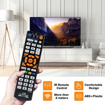 Télécommande universelle intelligente IR avec fonction d'apprentissage, copie de contrôleur de 3 pages pour TV STB DVD SAT DVB HIFI TV BOX, L336