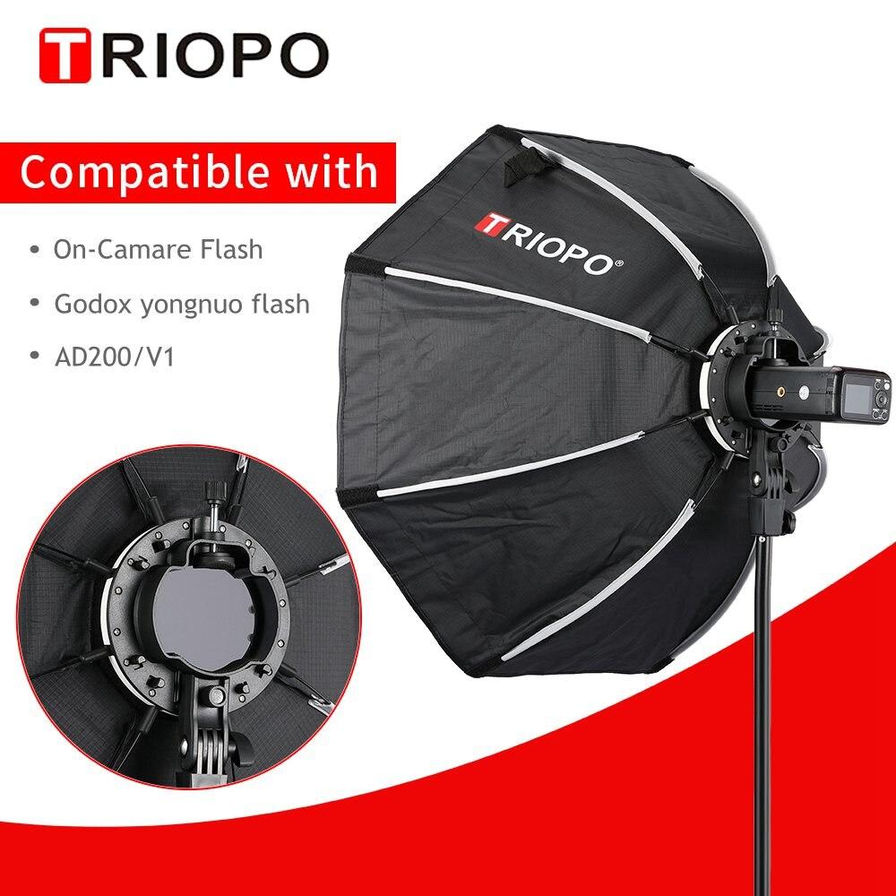 TRIOPO 65cm KX65cm Octagon Umbrella Softbox Soft Box For Godox AD200 V1 Yongnuo YN200 Flash Light Photography Studio Accessories