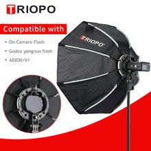 TRIOPO 65cm KX65cm Octagon Umbrella Softbox Soft box per Godox AD200 V1 yongnuo YN200 Flash Light photography studio accessori