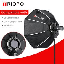 TRIOPO 65cm KX65cm אוקטגון אמברלה Softbox רך תיבת עבור Godox AD200 V1 yongnuo YN200 פלאש אור צילום סטודיו אבזרים