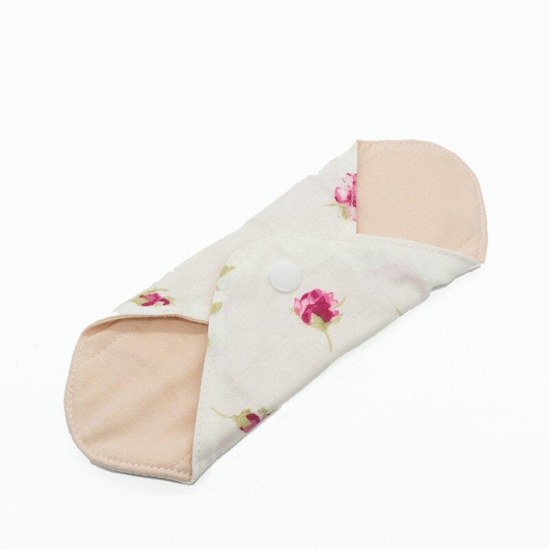 1Pc Women Feminine Hygiene Reusable Washable Panty Liner Bamboo Cloth Mama Menstrual Sanitary Nappy Towel Pad 18.5cm