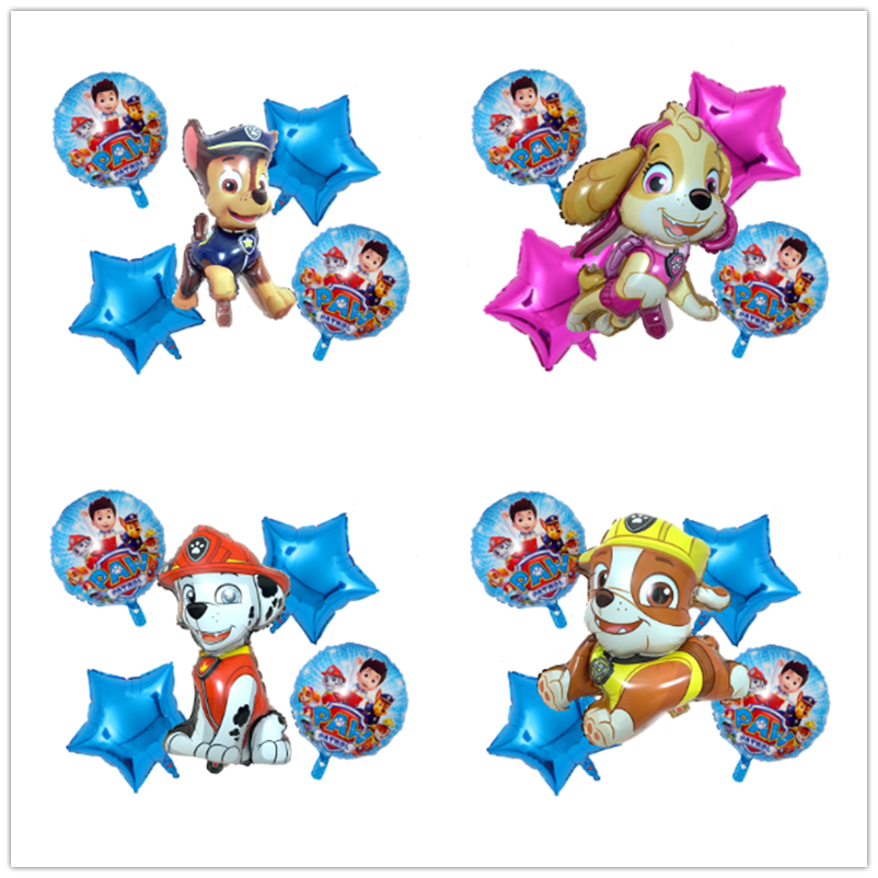 Новые лапы патруль день рождения игрушки набор Чейз Маршалл небо щебень латексные воздушные шары-фигурки Patrulla Canina вечерние Декор подарок и...
