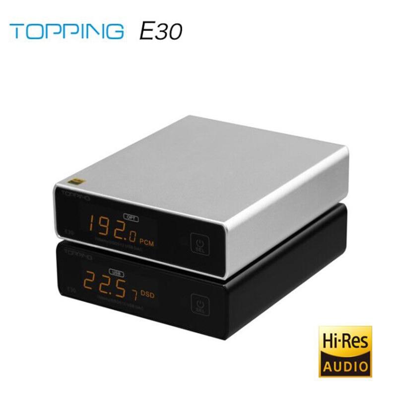 ЦАП-декодер TOPPING E30 AK4493 XU208 32 бит/768K DSD512 сенсорное управление с дистанционным управлением высокой четкости