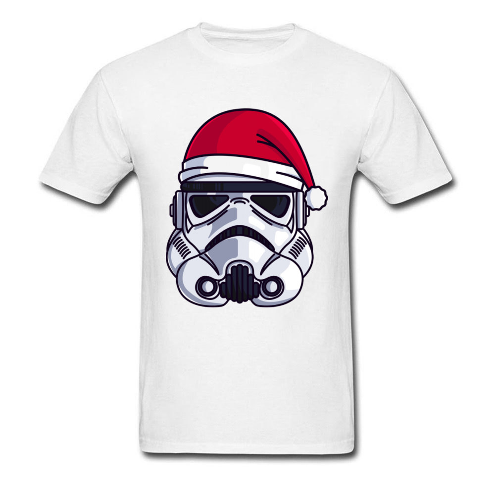 Star Wars Tshirt CHRISTMAS STORMTROOPER MINIMALIST T-shirt For Men Short Sleeve 100% Cotton Fabric T Shirts Punk Tops & Tees 3XL