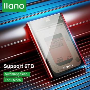 LLANO HDD Case 2.5 SSD Box HD SATA USB 3.0 Micro USB Adapter for External Hard Drive/Disk 6TB HDD Enclosure for Laptop/PS4/PS3