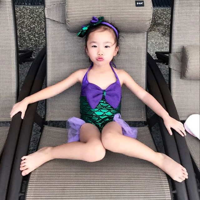 Mermaid Clothing Baby Girls GIRL'S One-piece Swimming Suit Princess Infants Tour Bathing Suit GIRL'S CHILDREN'S Swimsuit Cute