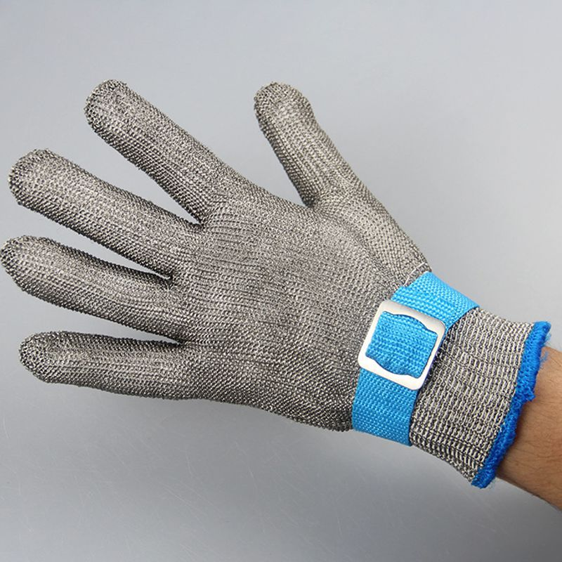 1Pcs Durable Grade 5 Stainless Steel Wire Cut-Proof Glove Metal Slaughter Repair Woodworking Glass Anti-Knife Protective Glove