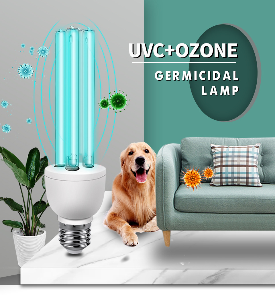 Quartz lamps ultraviolet light germicidal lights uv lamp for home E27 ultraviolets terilization lamp medical sterilization 01