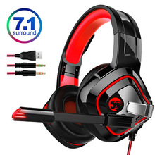 Stereo 7.1 Sound Gaming Headset Wired PC Earphones Headphone Surround Bass with Microphone for New Xbox /Laptop Tablet Gamer все цены