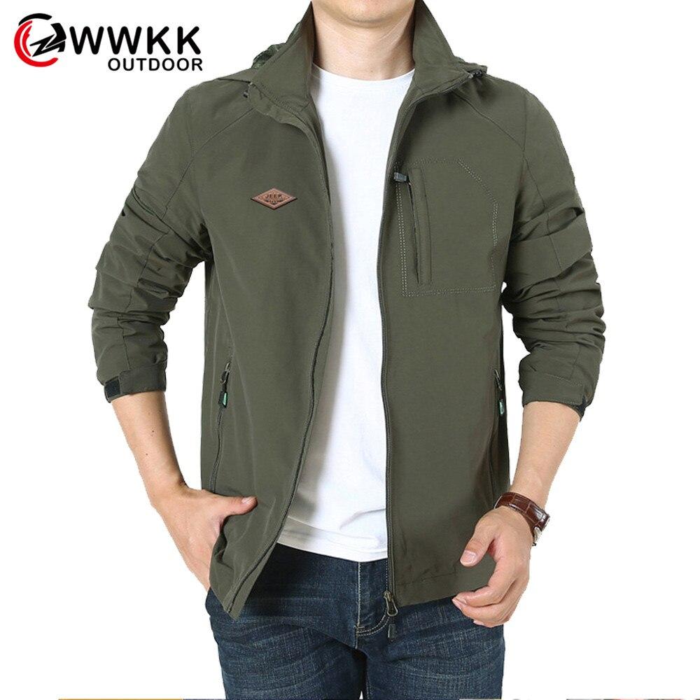 WWKK новая мужская куртка для пешего туризма на открытом воздухе, мужская спортивная куртка для дождливой погоды на весну и осень, ветровка дл...