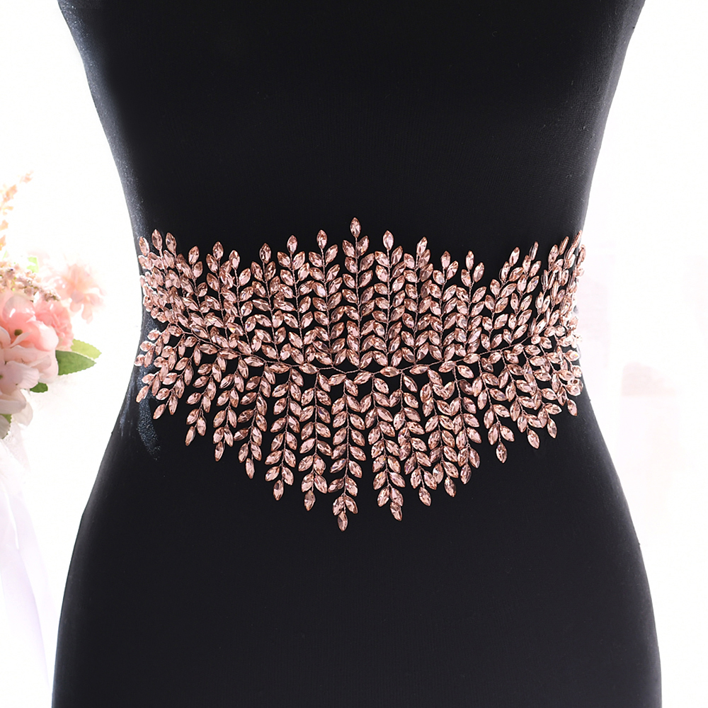 YouLaPan Crystal Womens Belt Wide Belts For Coats Waist Belt For Woman Diamond Wedding Belt Rhinestone Wedding Belt SH238