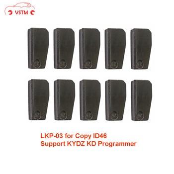 Original 10 teile/los LKP03 transponder chip können klon 46 chip über für KD X2-in Autoschlüssel aus Kraftfahrzeuge und Motorräder bei