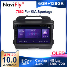 6G + 128G QLED 4G LTE CarPlay Android 10 Auto Radio Multimedia Video Player Navigation GPS 2 din Für KIA Sportage 3 2010 2011-2016