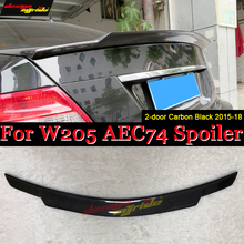 W205 Tail Spoiler Wing Carbon Fiber C74 Style For Mercedes Benz C-Class C180 C200 C250 2-Door Sedan Rear Trunk Spoiler 2015-2018 недорого