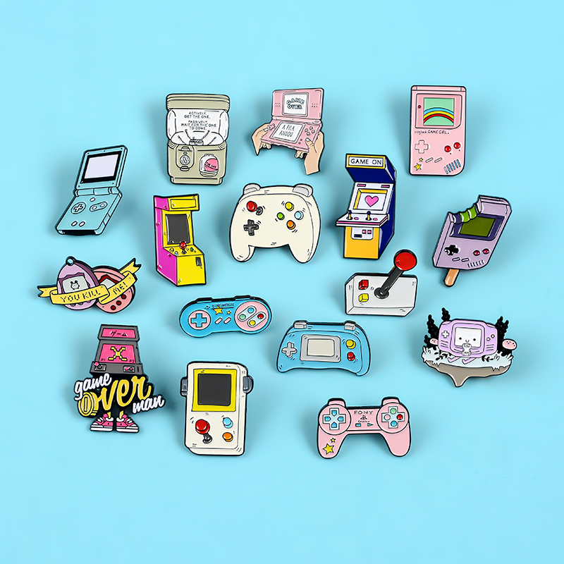 Retro Arcade Game Enamel Pins Collections Cartoon 90s Gamepad Jewelry Brooches Denim Shirt Collar Badge Lapel Pins Friends Gifts 5