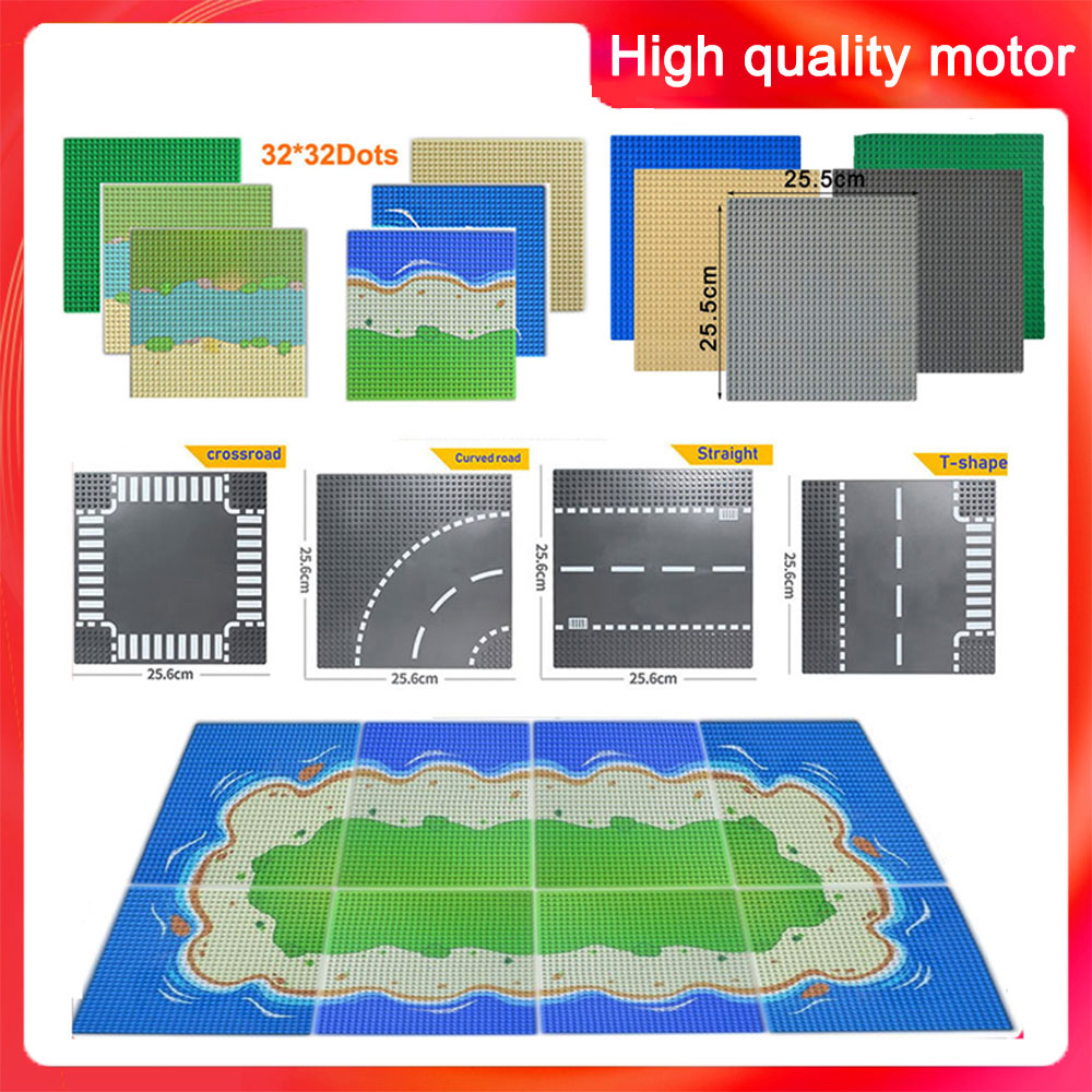32*32 Dots Classic Base Plates  Compatible LegoINGlys Baseplates City Road Plates Dimensions Building Blocks Construction Toys