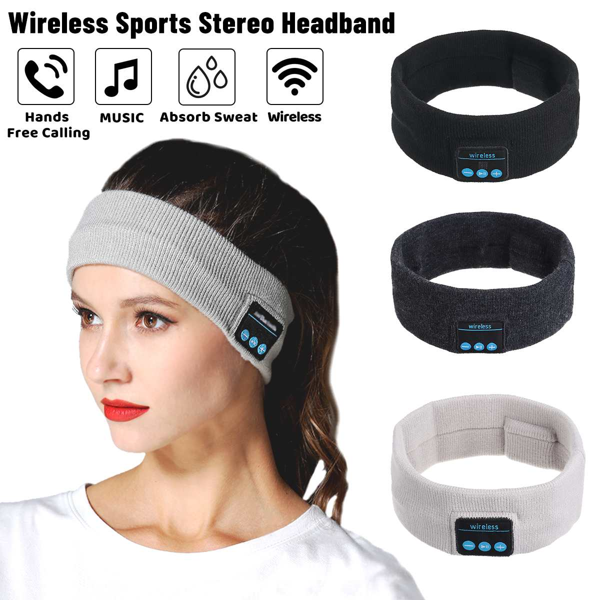 Wireless bluetooth 5.0 Earphones Sleeping Eye Mask Music  2