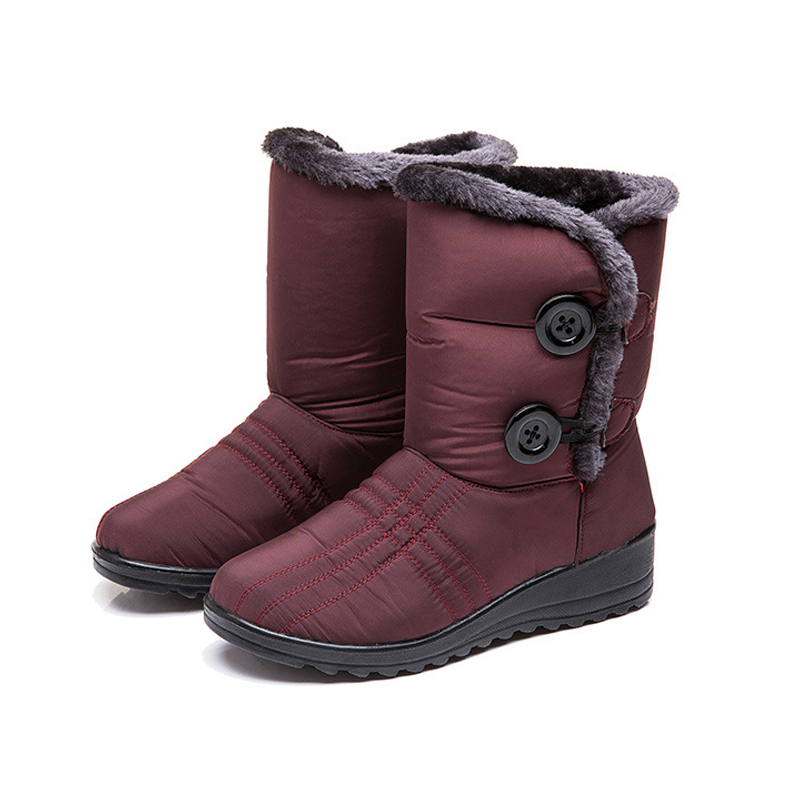 1 Pair Women Snow Boots Warm Shoes Thicken Anti-slip Waterproof for Outdoor Winter Best Sale-WT image