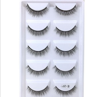 NEW 150 pair Mink Eyelashes 3D False Eyelashes Thick Pull Through Makeup Eyelashes Extension Natural Volume Soft Fake Eyelashes