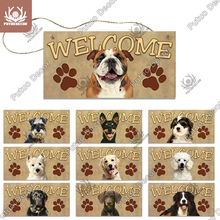 Putuo Decor Dog Plaques Wood Sign Friendship Wooden Pendant Hanging Signs for Wooden Hanging Dog House Decoration Dog Plate
