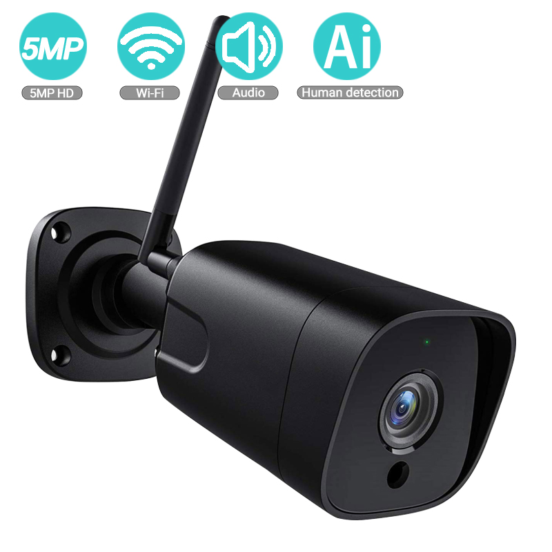 BESDER 5MP 2MP 2-wayAudio Bullet IP Camera SONY Sensor Waterproof Security WiFi Camera Motion Detection Onvif CCTV Surveillance