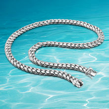 Fashion 10MM Men's Necklace Sterling Silver 925 Jewelry Cuban Link Chain Handsome Cool Male Necklace Gift